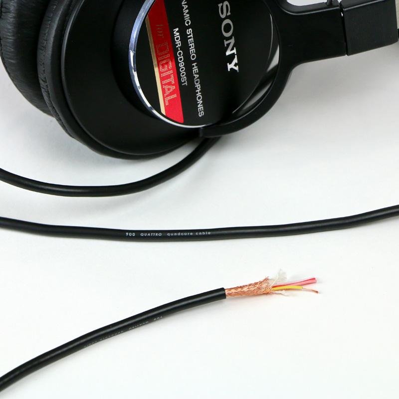 SONY MDR-CD900ST,ヘッドホン改造,ヘッドホンリケーブル,ヘッドホンバランス改造,4芯ケーブル
