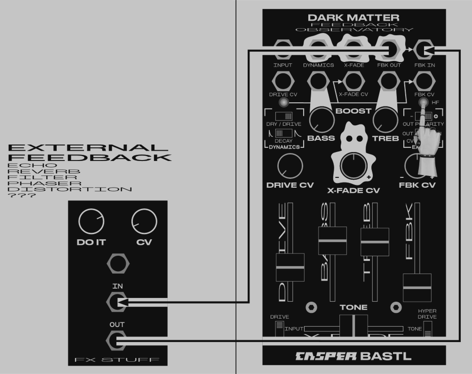 モジュラーシンセ,ユーロラック,Casper Electronics,DARK MATTER,フィードバック,ダークマター