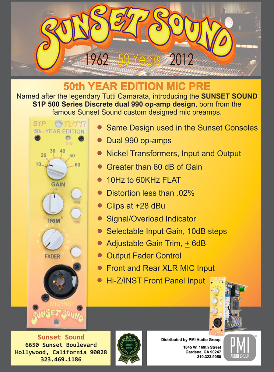 Sunset STUDIO S1P