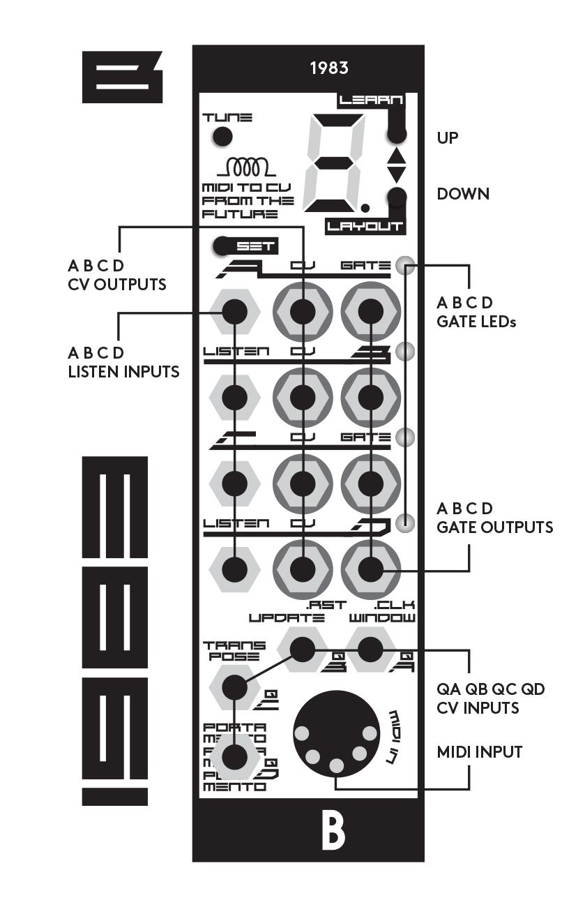 BASTL INSTRUMENTS,1983,MIDI to CVコンバーター,自動チューニング