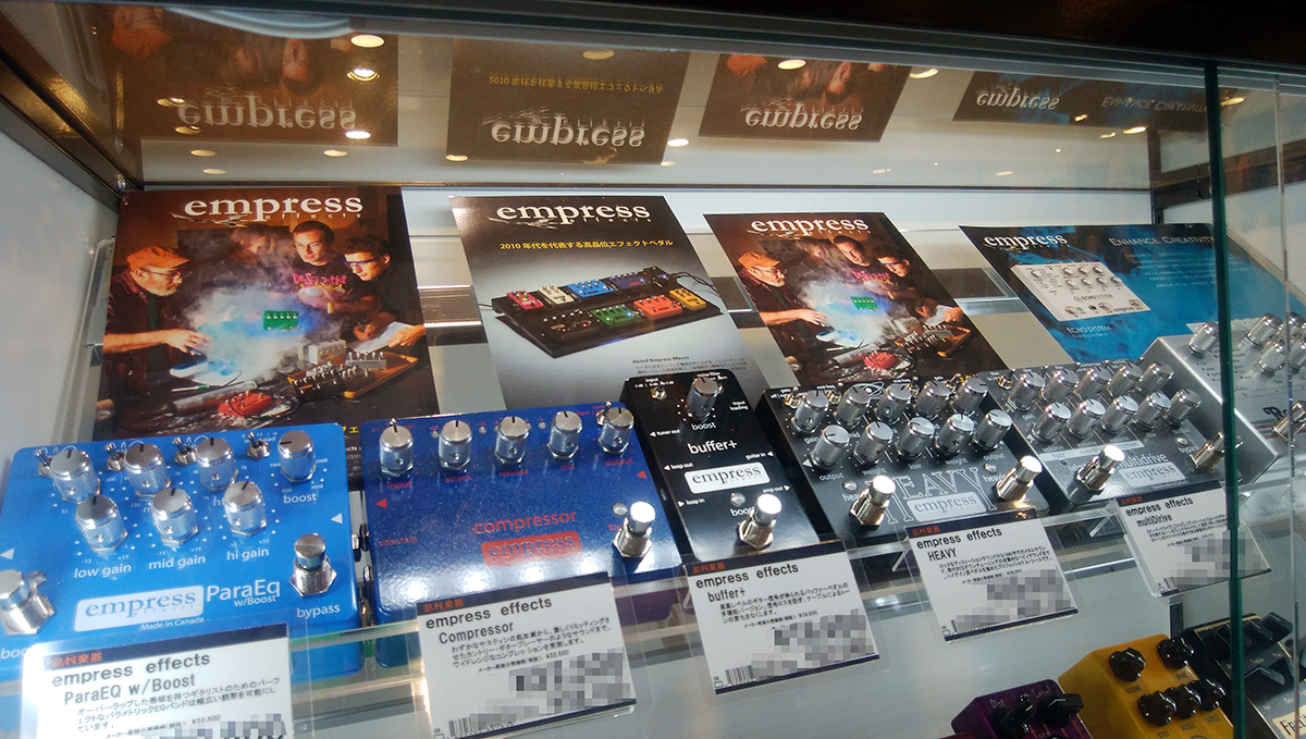 エンプレスエフェクト,Empress Effects,九州,福岡市,博多,ギターペダル,エフェクター,展示,試奏