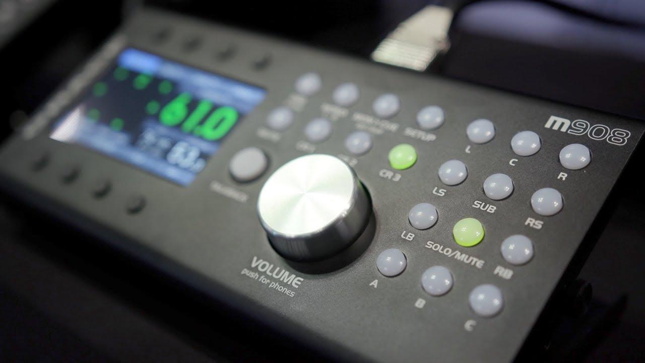 grace design,m908,サラウンドモニターコントローラー,イマーシブオーディオ,マルチチャンネルモニターコントローラ,ベースマネージメント,EQ,Dolby Atmosモニターコントローラー,アトモスモニタリング,サラウンドモニタリング,22.2ch,サブウーハー,サラウンドモニター環境,ステレオ、5.1チャンネル,7.1チャンネル,
