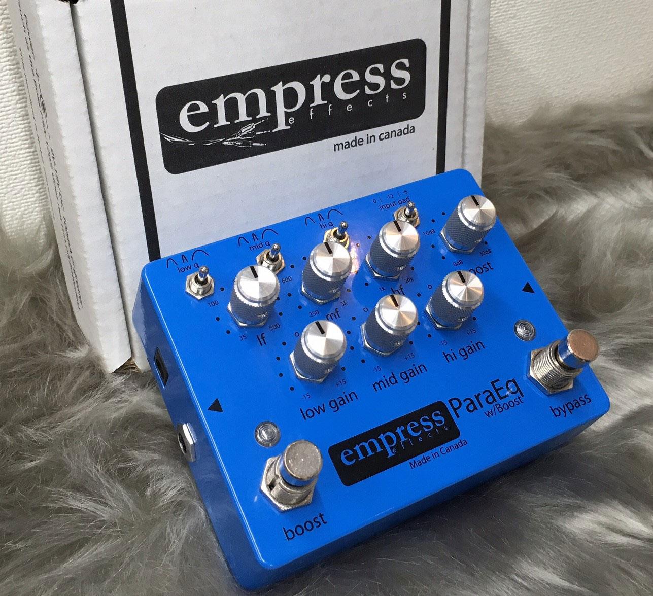 Empress EffectsのParaEQも展示していただいております。