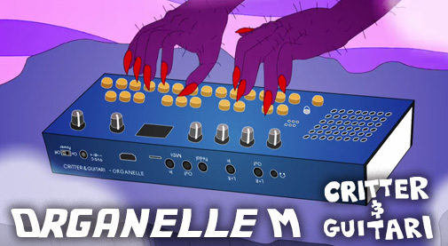 Critter & Guitari,Organelle M,クリッター&ギターリ,クリッターアンドギタリ,オルガネラ,オルガネラM,PureData,シンセサイザー,電池駆動