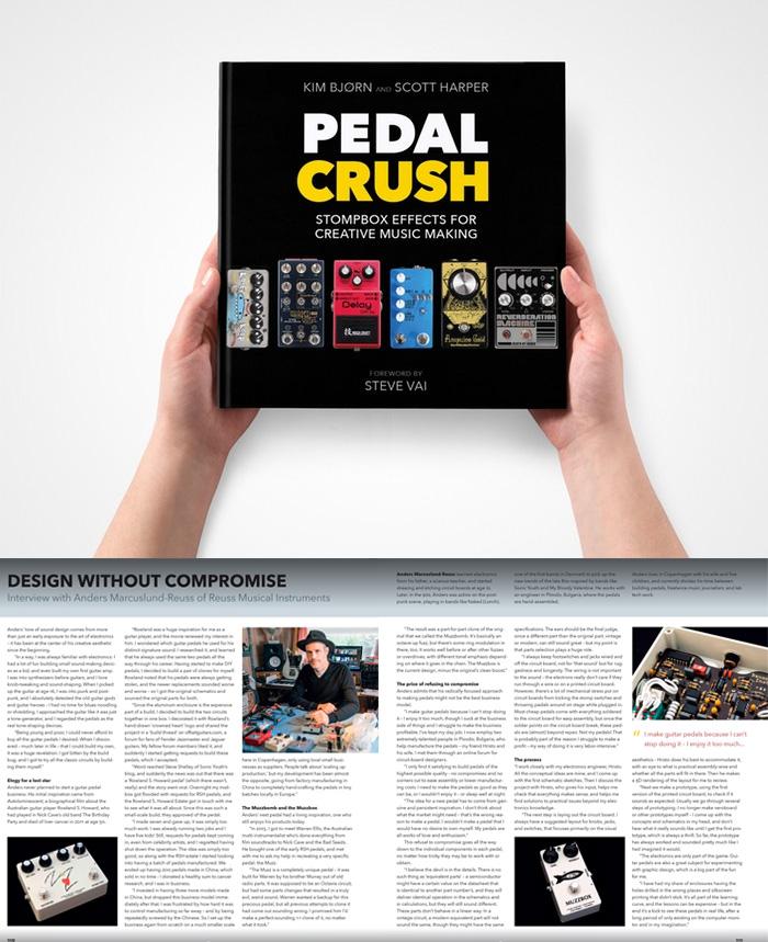 reuss,ロイス,Pedal Crush,ペダルクラッシュ,本,ギターペダル,エフェクター,ビンテージエフェクター,ビンテージファズ,歪エフェクター