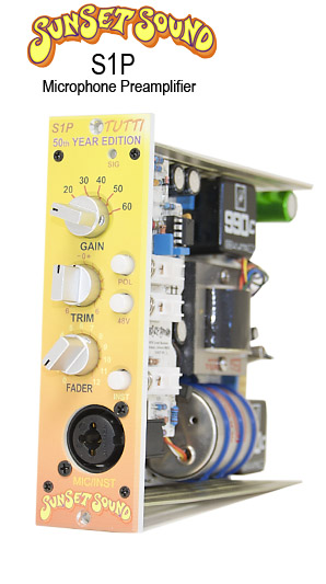 The Sunset Sound S1P preamp
