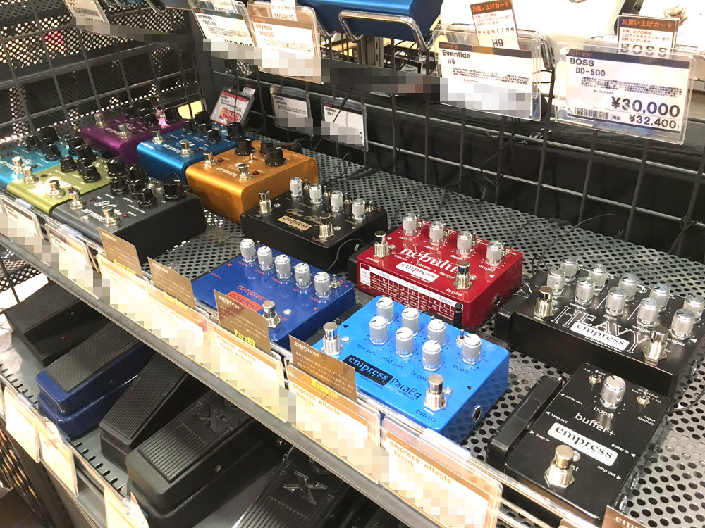 Walrus Audio,Empress Effects,Caroline,ギターペダル,大阪,試奏