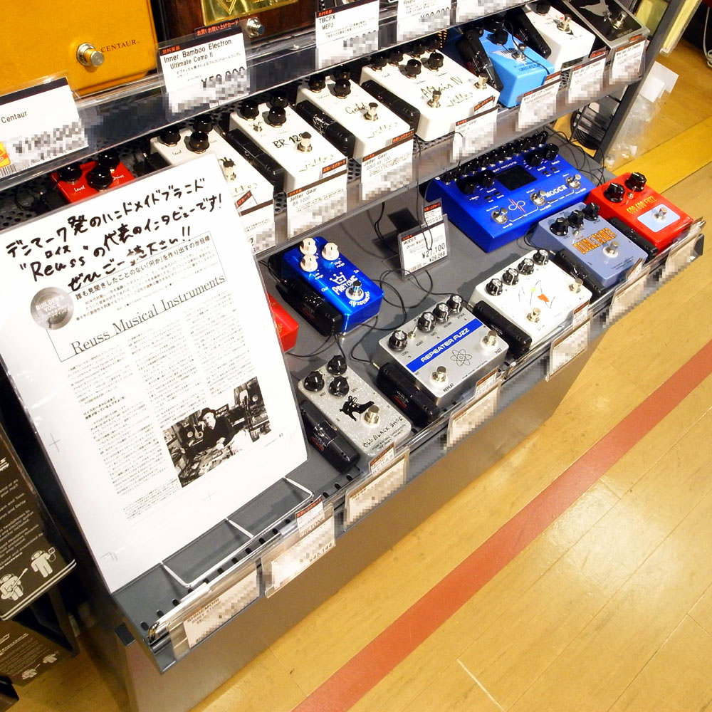 Walrus Audio,Empress Effects,Caroline,REUSS,ギターペダル,大阪,試奏