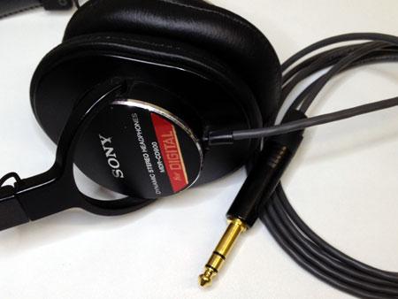 SONY MDR-CD900ST ヘッドホン改造、リケーブル